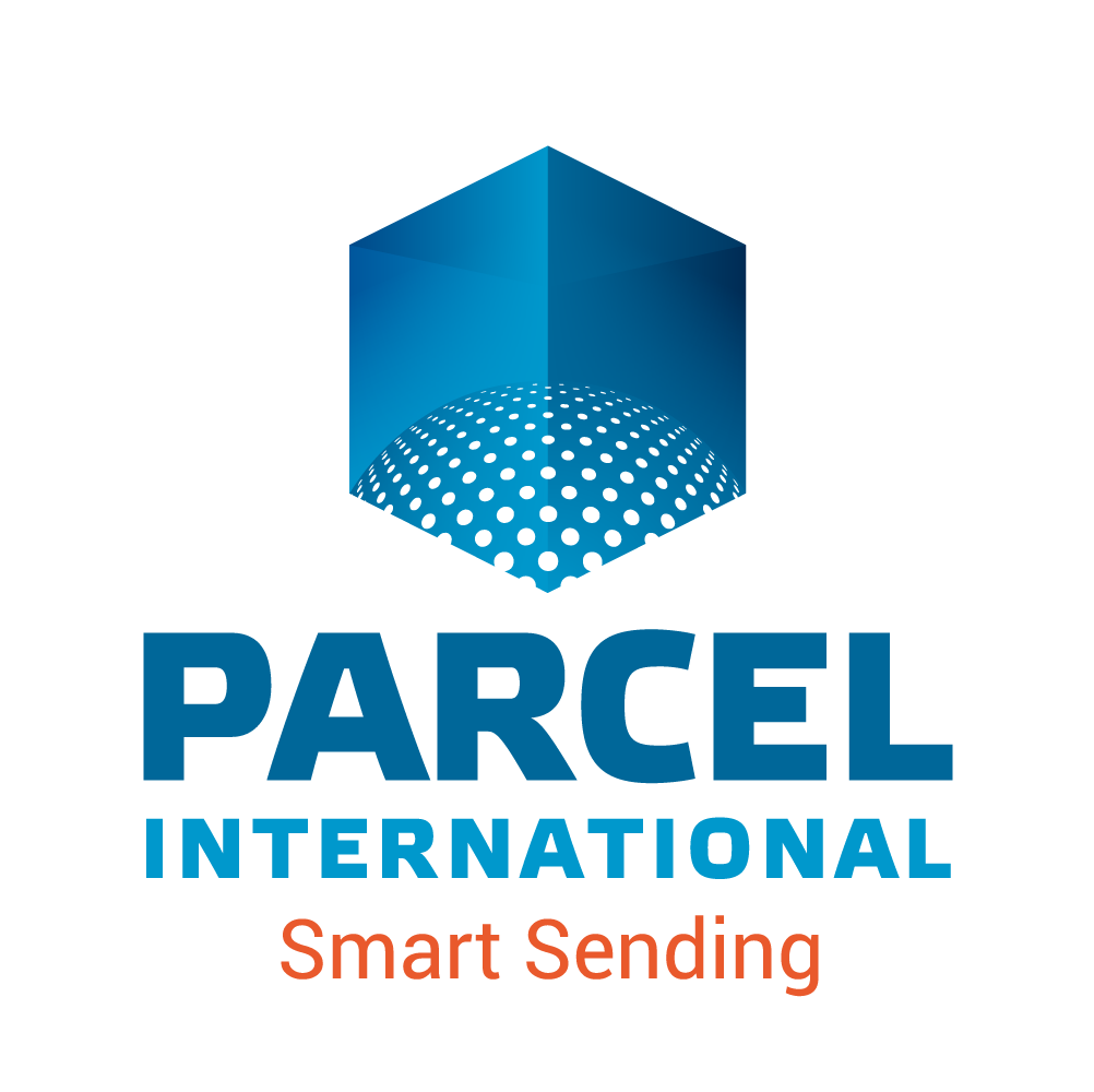 Logo mit Slogan von Parcel International