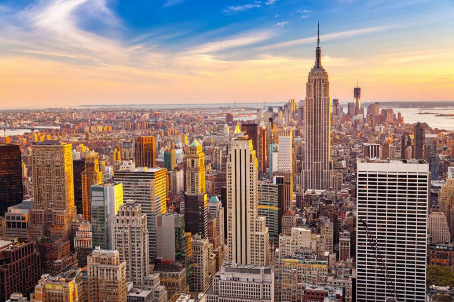Skyline overzicht van New York City